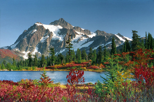 Mount Shuksan from Picture Lake by Don Paulson
