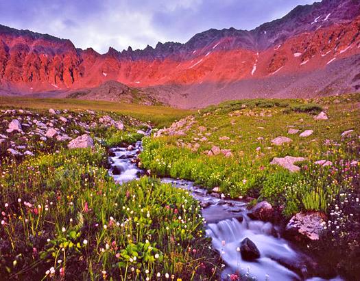 Mayflower Gulch Sunset - near Copper Mountain, Colorado by John Fielder