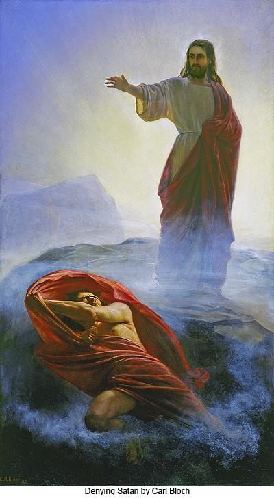 Cómo Jesús fue   tentado por satanás en el desierto.