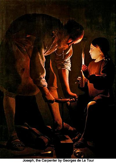 Joseph, the Carpenter by Georges de La Tour